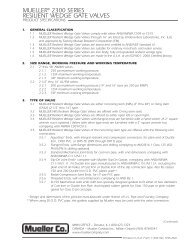 1 Specifications of the Motorised Gate Valve Description