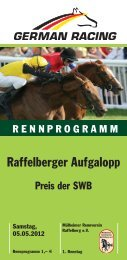 Raffelberger Aufgalopp - Mülheimer Rennverein Raffelberg eV