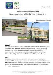 wald2011 Konzept Holzbankaktion 1 - Treffpunkt Wald