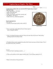 Maya Video Worksheet PDF - Reeths-Puffer Schools