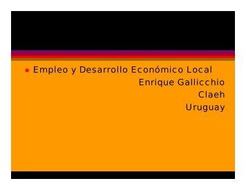 Empleo y Desarrollo Económico Local Enrique ... - Condesan