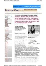 YOLANDA VELOSO RÍOS, Profesora de la Universidad de ... - Duvi