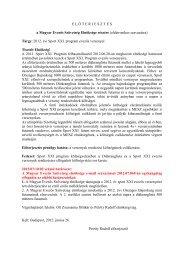 2012. évi Sport XXI. versenyek - Magyar Evezős Szövetség