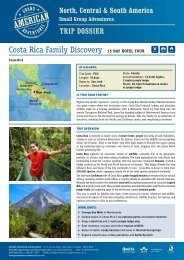 Costa Rica Family Discovery 15 Day hotel tour - Adventure holidays