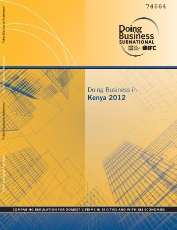 Report on Doing Business in Kenya 2012 - TradeMark Southern Africa