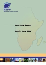 Quarterly Report April – June 2006 - TradeMark Southern Africa