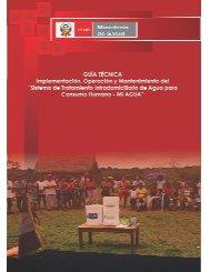 Guía Técnica para la Implementación, Operación y Mantenimiento del
