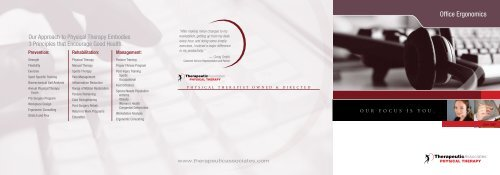 Office Ergonomics Brochure Pdf Therapeutic Associates