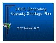 FRCC Capacity Emergency Plan