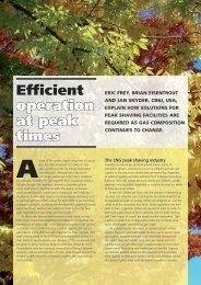 Efficient operation at peak times - CB&I
