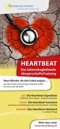 HEARTBEAT - Flyer - Ausbildungs & Tagungszentrum Bienenberg