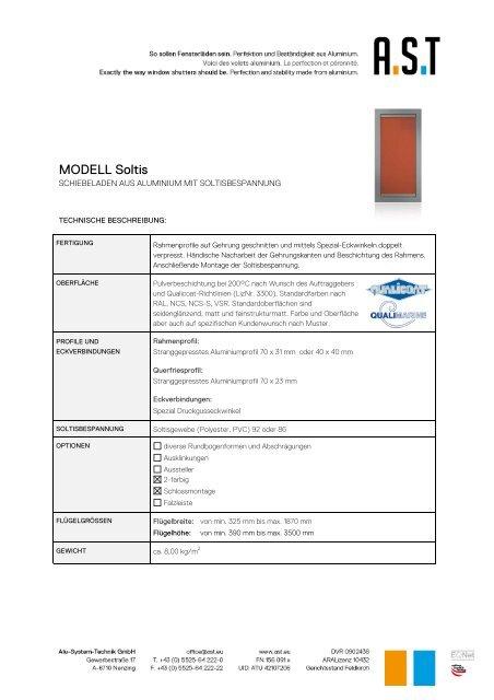 MODELL Soltis