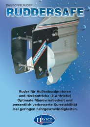 Ruder für Außenbordmotoren und Heckantriebe (Z ... - Sisa Yachting