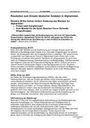 Resolution zum Einsatz deutscher Soldaten in Afghanistan