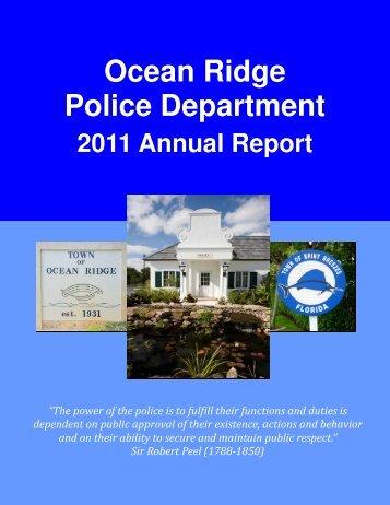 Annual Report FY 2011 - Town of Ocean Ridge