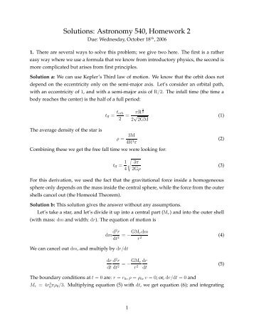 Solutions for Homework #2
