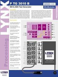 SDI & AES Test Generator - LYNX Technik AG