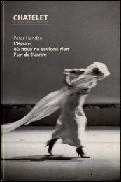 Bible du spectacle - Festival d'automne à Paris