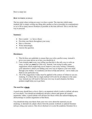 How to write an essay - alastairhudson.com