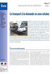 Le transport à la demande en zone urbaine - Atec/ITS France