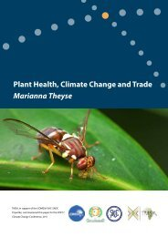 Plant Health, Climate Change and Trade - TradeMark Southern Africa
