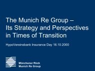 Presentation: The Munich Re Group - Its Strategy and Perspectives ...