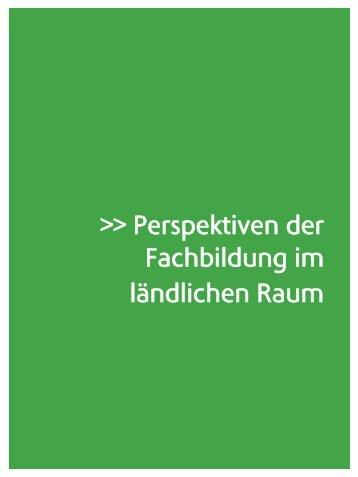 Perspektiven der Fachbildung im ländlichen Raum - Verband für ...