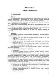 Protocol terapia menopauzei - Spitalul Clinic Municipal de Urgenta ...