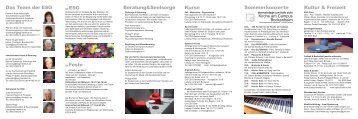 ESG -Semesterprogramm Sommersemester 2013