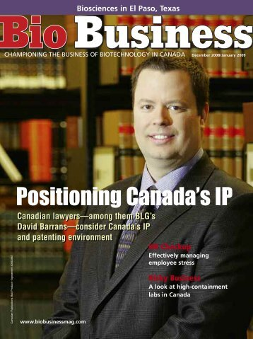 Positioning Canada's IP - Bio Business