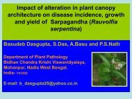 Impact of alteration in plant canopy architecture on disease ... - Inra