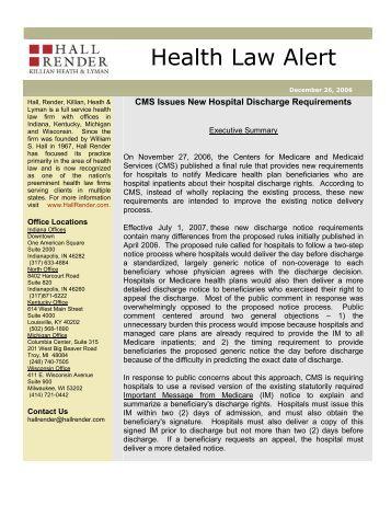 CMS Discharge Checklist - URAC