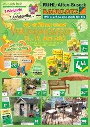 jeder Besucher erhält kostenlos - Baumarkt Ruhl