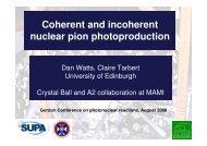 Coherent pion photoproduction - University of Edinburgh
