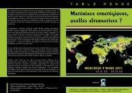 Matériaux stratégiques, quelles alternatives ? - IHEDN