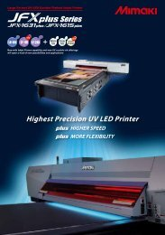 JFX Series UV Flatbed Printers - Midwest Sign & Screen Printing ...