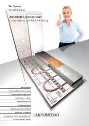 Das System für den Neubau Flächenheizung und ... - Multibeton