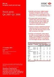 European small and mid caps-Stock picks Q4 2007-Q1 2008 - Fourlis