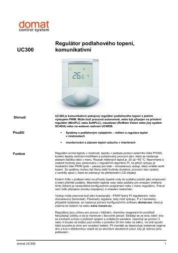 UC300 Regulátor podlahového topení, komunikativní