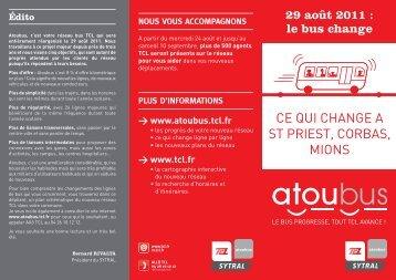 Plan du nouveau réseau de bus du secteur - Saint-Priest