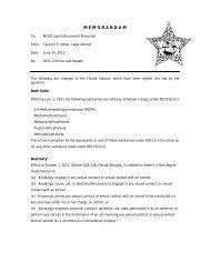 2011 Criminal Law Update - Bath Salts - Martin County, Florida