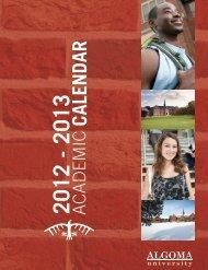 Academic Calendar 2012-13