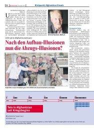 Nach den Aufbau-Illusionen nun die Abzugs-Illusionen? - Foeg.de
