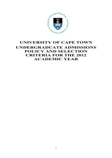 University of Cape Town - Faculty of Commerce - University of Cape ...