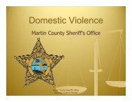 Domestic Violence - Martin County, Florida