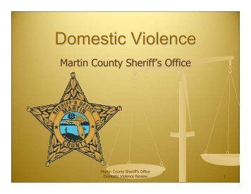 Domestic Violence - Martin County, Florida