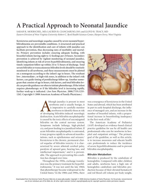 A Practical Approach to Neonatal Jaundice - UCSF Fresno