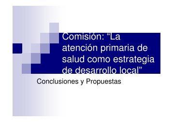 La atención primaria de salud como estrategia de desarrollo local