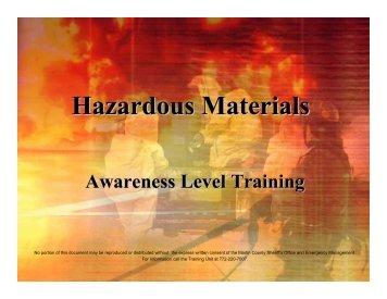 HazMat Presentation - Martin County, Florida