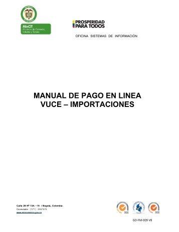 Manual de Pago en Línea - Vuce